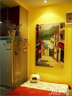 简约风格二居室5-10万70平米餐桌新房平面图