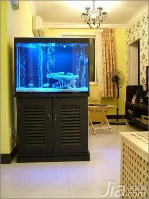 简约风格二居室5-10万70平米玄关鱼缸新房家装图