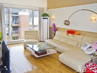 简约风格复式5-10万90平米客厅沙发新房平面图