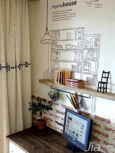 简约风格二居室5-10万80平米背景墙三口之家设计图纸