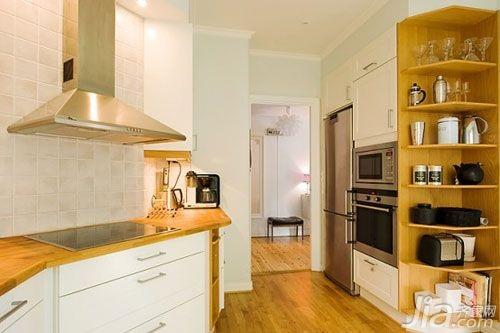 欧式风格小户型5-10万80平米厨房橱柜安装图