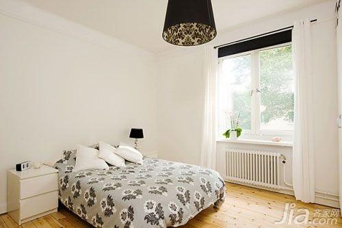 欧式风格小户型简洁5-10万80平米卧室床图片
