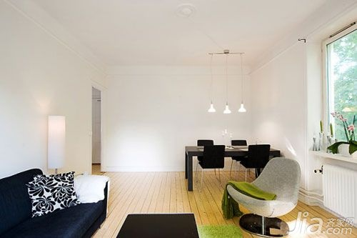 欧式风格小户型5-10万80平米客厅餐桌图片