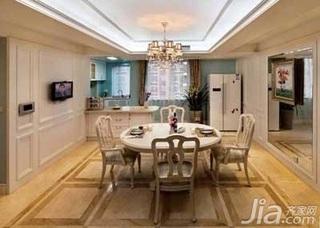 欧式风格复式白色豪华型140平米以上厨房餐厅背景墙窗帘新房家装图