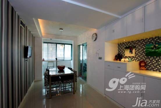 简约风格二居室5-10万90平米餐厅橱柜新房家居图片