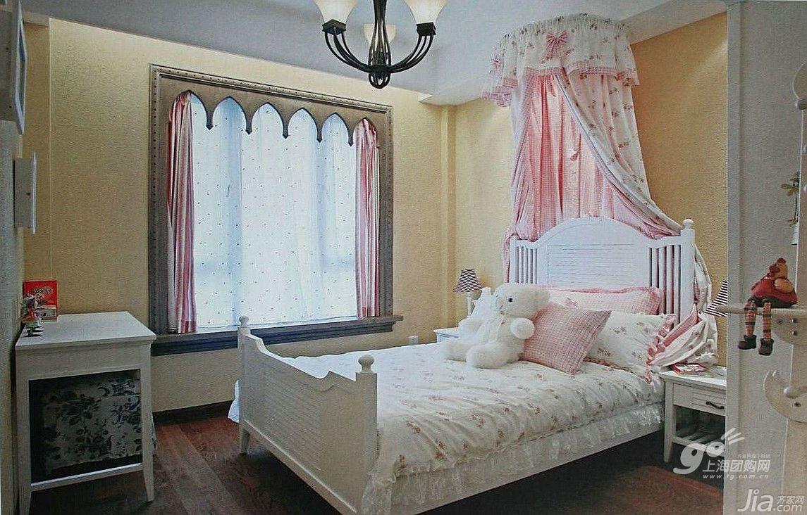 欧式风格四房10-15万140平米以上卧室飘窗床新房家装图图片
