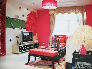 温馨3万-5万90平米客厅背景墙茶几新房设计图