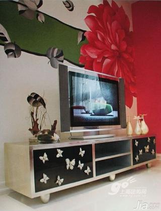 3万-5万90平米客厅电视柜新房家装图片
