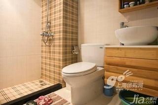简约风格二居室3万以下90平米卫生间洗手台婚房家装图片