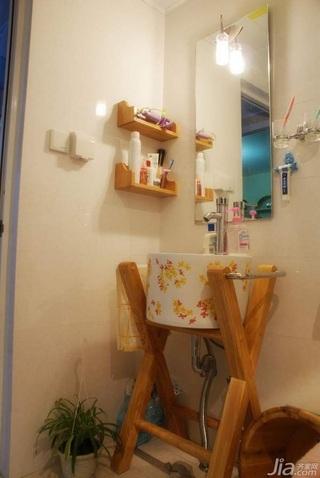 田园风格二居室3万以下60平米卫生间洗手台新房家装图