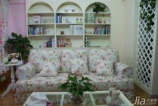 田园风格二居室3万以下60平米客厅沙发背景墙沙发新房设计图
