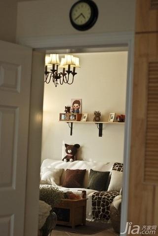 混搭风格二居室5-10万80平米客厅沙发新房家装图