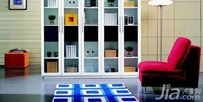 简约风格一居室5-10万50平米书房书架新房家装图片