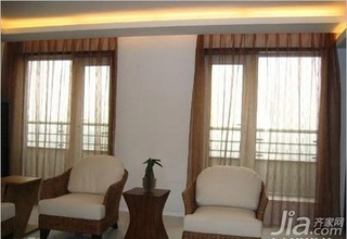 日式风格复式5-10万80平米客厅沙发新房家装图片