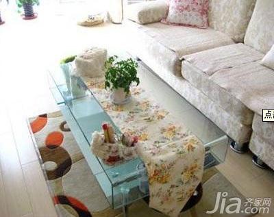 田园风格二居室浪漫5-10万70平米客厅沙发新房设计图