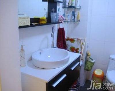 田园风格二居室5-10万70平米卫生间洗手台新房设计图纸