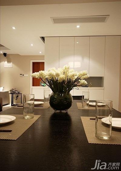简约风格四房10-15万120平米餐厅橱柜新房设计图纸
