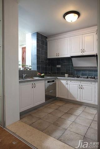 欧式风格二居室简洁豪华型80平米厨房灯具新房家装图