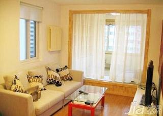 简约风格一居室10-15万50平米客厅窗帘效果图