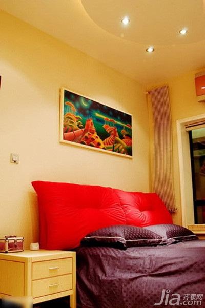 简约风格复式5-10万70平米卧室床新房设计图纸