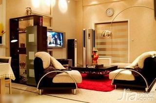 简约风格复式5-10万70平米客厅沙发新房平面图