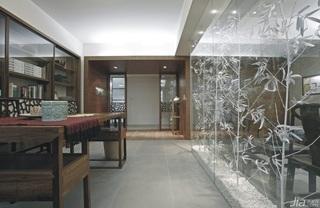 混搭风格二居室古典10-15万90平米书房书桌新房家装图