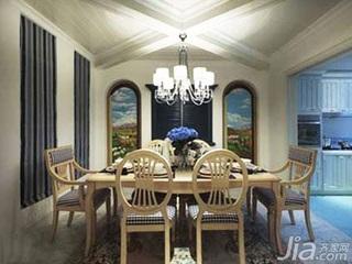 地中海风格别墅舒适15-20万140平米以上餐厅餐厅背景墙灯具新房平面图