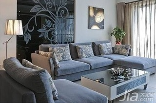 简约风格二居室舒适5-10万60平米客厅沙发背景墙沙发新房家居图片