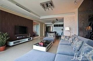 简约风格二居室舒适5-10万60平米客厅沙发背景墙沙发新房家装图片