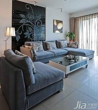 简约风格二居室舒适5-10万60平米客厅沙发背景墙沙发新房家装图