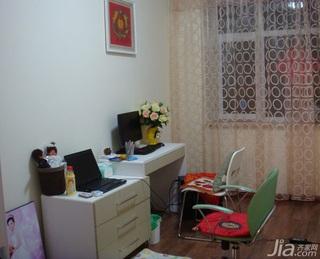 简约风格二居室5-10万70平米书房书桌新房平面图