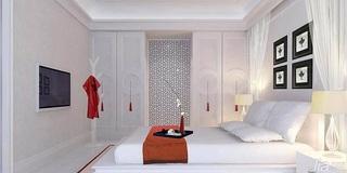 简约风格四房简洁5-10万90平米卧室床新房家装图片