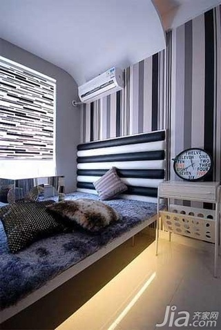 简约风格四房简洁10-15万120平米壁纸新房家装图片