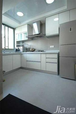 简约风格四房白色10-15万120平米厨房橱柜新房家装图片