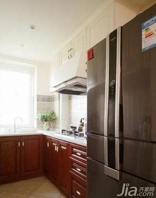 田园风格四房10-15万80平米厨房橱柜新房家装图