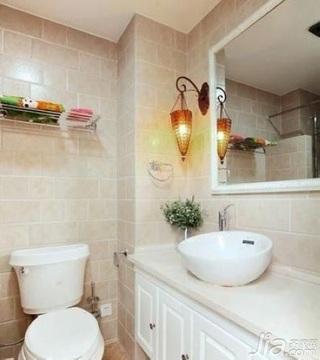 田园风格四房10-15万80平米卫生间洗手台新房家装图片