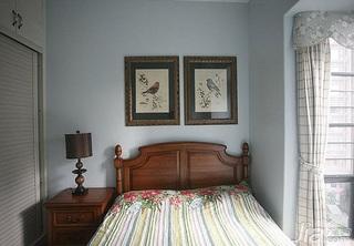地中海风格别墅豪华型140平米以上卧室床新房家装图片