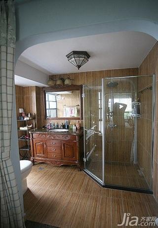 地中海风格别墅豪华型140平米以上卫生间浴室柜新房平面图
