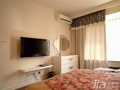 简约风格四房浪漫10-15万100平米卧室电视背景墙床效果图