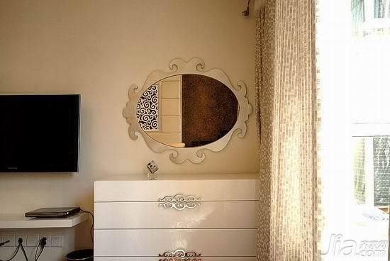 简约风格四房浪漫10-15万100平米卧室电视背景墙窗帘效果图