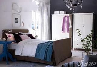简约风格一居室舒适3万以下50平米卧室衣柜设计图纸