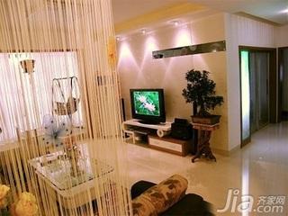 田园风格二居室5-10万70平米客厅电视柜新房家装图片