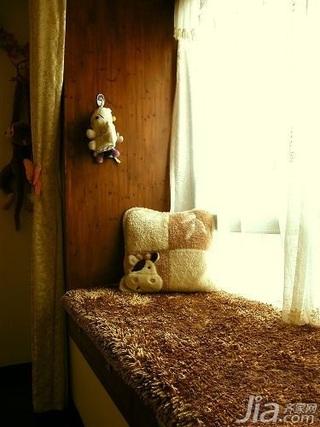 田园风格二居室5-10万70平米飘窗新房家装图片