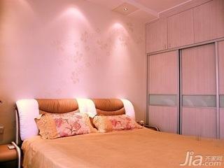 田园风格二居室5-10万70平米卧室床新房设计图