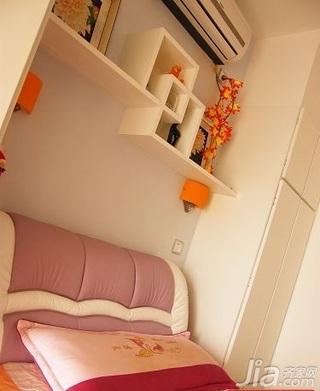 田园风格二居室5-10万70平米卧室床新房平面图