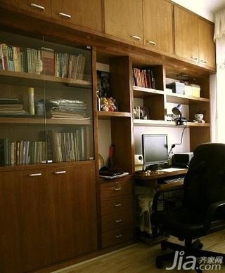 田园风格二居室5-10万70平米书房书桌新房设计图