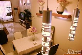 田园风格二居室5-10万70平米餐厅餐桌新房家装图
