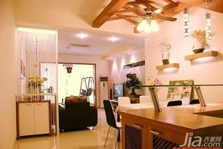 田园风格二居室5-10万70平米餐厅灯具新房家居图片