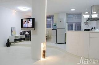 简约风格复式简洁白色5-10万80平米吧台灯具新房家装图