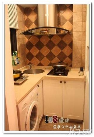 混搭风格一居室简洁白色5-10万50平米厨房橱柜新房家装图片